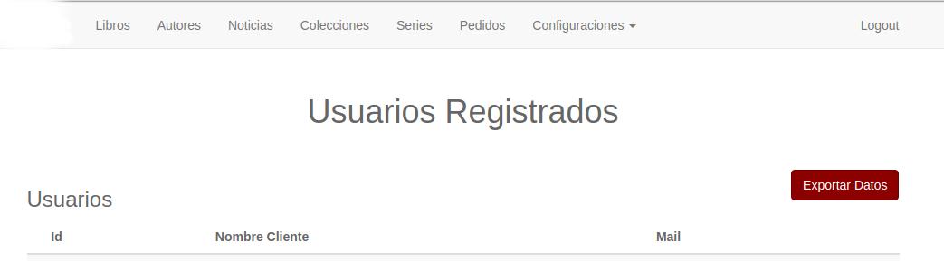 Pàgina per administrar els subscriptors