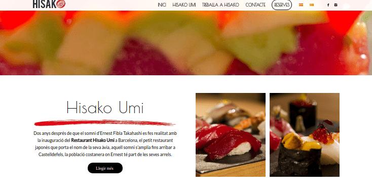 Pàgines web per restaurants